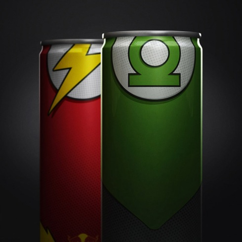 latas-red-bull-super-herois-lanterna-verde-flash